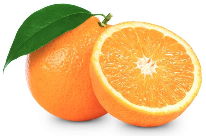 blanquear los dientes con naranja